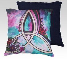 Triquatra watercolor artwork, pagan, celtic symbols by Gemini Moon, Kristi Rinier - Shop - Art of where