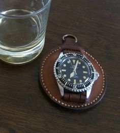 Leather fob to turn any watch into a pocket watch