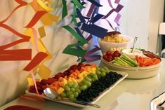 Rainbow Fruit and Veggie Tray