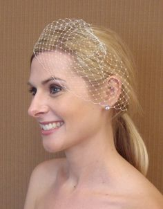 Small French/Russian Birdcage Veil With by glamorbydesign on Etsy