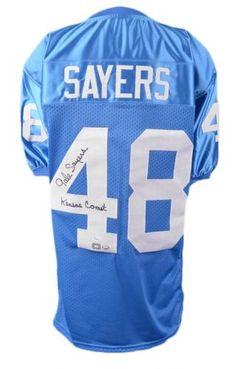 f1026a37857 Gale Sayers Autographed Jersey with Kansas Comet Inscription - JSA  #SportsMemorabilia #KansasJayhawks Mario Chalmers