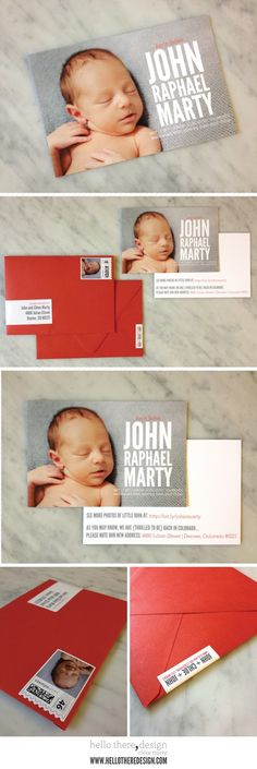 little john's birth announcements by chloe marty :: hello there, design :: @chloe marty #birthannouncements #newbaby