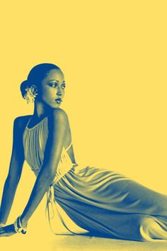 Pat Cleveland in a dress by Halston, 1972. Thanks auntada