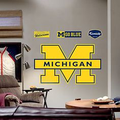 Fathead® University of Michigan Wolverines Maize Logo Wall Decal