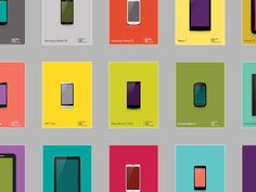 Android device library designed by Jo for The Artificial. Ux Design, Design Elements, Library Design, Galaxies, Mockup, Android, Samsung Galaxy, Posters, Digital