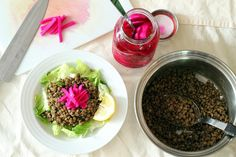 Pickled Turnips and Lentil Salad | Wheat-Free Meat-Free