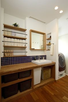 I like the towel storage idea! House Design, Laundry In Bathroom, Room Design, House Bathroom, Room Interior, Shower Room, House Rooms, House Interior, Bathroom Interior