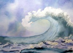 Waves in watercolour