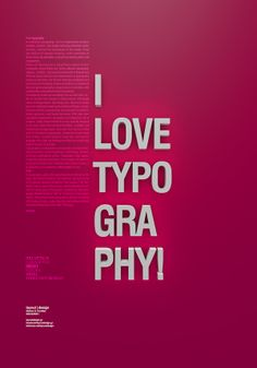 I love typography on Behance