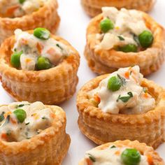"Chicken Pot Pie Bites.  Trader Joes makes amazing frozen bites with a pastry crust but this filling sounds good and worth a try for a ""home made"" version. On the list."