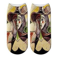 Fashion Printed Picasso Oil Painting Socks Women's Funny Abstract Painting Ankle Socks Picasso The Dream Novelty Socks Picasso The Dream, Unique Socks, Novelty Socks, Ankle Socks, 3d Printing, Oil, Abstract, Printed, Classic