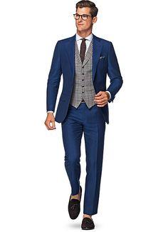 Suit Blue Plain Lazio P4807i   Suitsupply Online Store