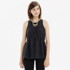 Madewell - Ruched Peplum Top