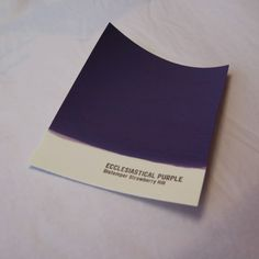 Painted out sample of the Ecclesiastical Purple. Part of a paint range catalogue coming out soon.