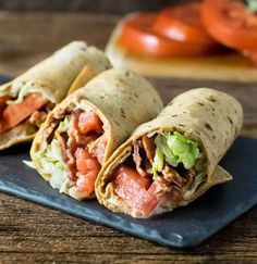 BLT Wraps with Secret Sauce - Fox Valley Foodie