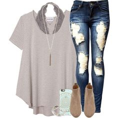 A fashion look from April 2016 featuring Olive + Oak t-shirts, Witchery ankle booties and Lizzy James bracelets. Browse and shop related looks.