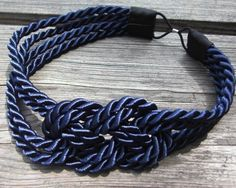 Nautical Navy Sailor Knot Headband $12.00