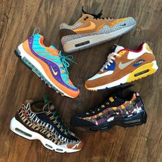 A bit of this. A bit of that. Pic via . Air Max 2, Nike Air Max, Air Max Sneakers, Sneakers Nike, Hypebeast, Streetwear, Adidas, Free Shipping, Outfit