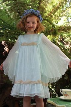 Blue Chiffon Angel Dress. 2-3 years - 9-10 years.