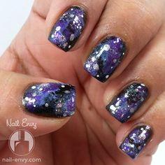 Purple Galaxy Nails by Nail Envy