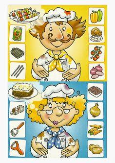 Pin by georginadulcineakayceebr on food-and-drinks Preschool Math, In Kindergarten, Puzzles For Kids, Games For Kids, Helper Jobs, Baby Learning, Home Schooling, Graphic Organizers, Writing Skills