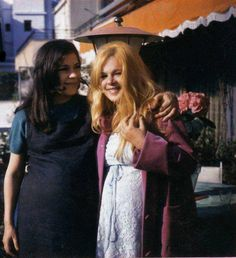 Actresses Jenny Karezi and Aliki Vougiouklaki   (both pregnant) in 1969