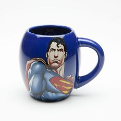 Vandor 74501 Superman Oval Ceramic Mug Man of Steel Blue 18Ounce >>> You can find out more details at the link of the image.  This link participates in Amazon Service LLC Associates Program, a program designed to let participant earn advertising fees by advertising and linking to Amazon.com.