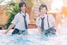School Uniform Girls, High School Girls, School Uniforms, Girl In Water, School Sports, Cute Asian Girls, Asian Woman, Swimsuits, Clothes For Women