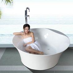 2015 hot sale deep bathtub soaking bathtub round prices SF5F001 cheap freestanding bathtub