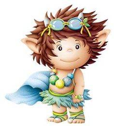 Discover thousands of images about trol Cute Fantasy Creatures, Magical Creatures, Baby Fairy, Cute Clipart, Cute Images, Cartoon Kids, Kids Cards, Illustrations, Cute Wallpapers