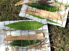 Weaving with natural materials (fine motor skills)
