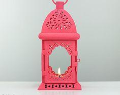 Estilo vintage al aire libre linterna - Shabby casa elegante Boda decoración de primavera - titular de vela de melocotón