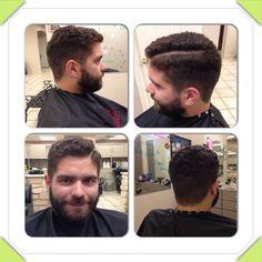 Men's hair, curly hair