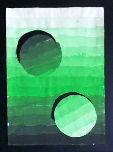 A tonal gradation, (with circles) is defined as value steps going from light to dark