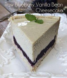 Raw Blueberry Vanilla Bean Cheesecake