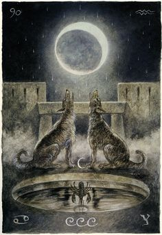 Luis Royo - Major Arcana: The Moon  (off 'The Labyrinth Tarot')