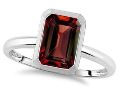Tommaso Design(tm) 8x6mm Emerald Octagon Cut Genuine Garnet Engagement Solitaire Ring Tommaso design Studio. $199.99. Free High End Jewerly Box and Gift Packaging. Free Lifetime Warranty exclusively offered by Finejewelers. Guaranteed Authentic from the Star K designer line. Certificate of Authenticity Included with this item