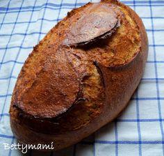 Kovászos joghurtos kenyér teljes kiőrlésű lisztekkel | Betty hobbi konyhája Baked Potato, Paleo, Potatoes, Baking, Ethnic Recipes, Pizza, Brot, Potato, Bakken