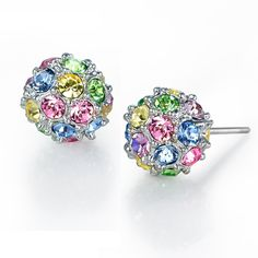 Color Diamonds, and spherical earrings