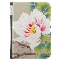 Zuigetsu Ikeda Pink Camellia japanese flower art Cases For Kindle