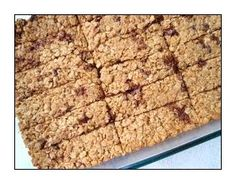 Chewy Oatmeal Chocolate Chip Granola Bars recipe (no rice crispies) Chocolate Chip Granola Bars, Chewy Granola Bars, Homemade Granola Bars, Semi Sweet Chocolate Chips, Muesli Bars, Homemade Oatmeal, Cookie Recipes From Scratch, Cereal Bars, Baking Recipes