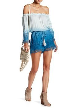 Sloan Crochet Long Sleeve Romper