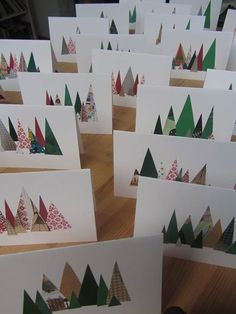 Debbie's Resource Cupboard: Christmas Christmas Card Crafts, Homemade Christmas Cards, Christmas Tree Cards, Christmas Printables, Christmas Art, All Things Christmas, Homemade Cards, Handmade Christmas, Holiday Cards