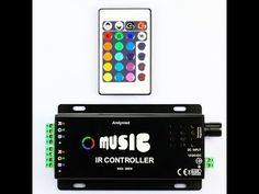 IR Controlador RGB audo iritmico para tiras LED RGB