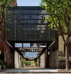 re-use of a vacant lot:  BMW guggenheim lab by atelier bow-wow