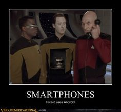 Picard uses android.