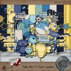 Take Me To Your Leader PU/S4H [KS_TMTYLkit] - $3.24 : Scraps N Pieces Store