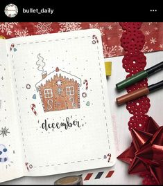 December is my favorite month of the year. These December monthly cover page ideas will help you finish off the year with some super festive holiday vibes! Check out this list of 58 covers with everything from a classic Christmas theme to something more simple and minimal. Bullet Journal Christmas, December Bullet Journal, Bullet Journal Monthly Spread, Bullet Journal Cover Page, Bullet Journal 2020, Bullet Journal Hacks, Bullet Journal Writing, Bullet Journal Layout, Bullet Journal Ideas Pages