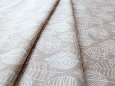 Cloud9 Fabrics Bark & Branch Line Leaf Khaki Canvas