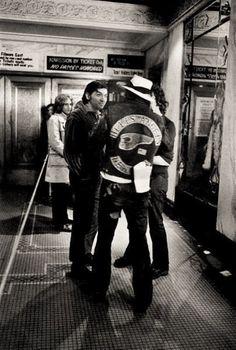 Bill Graham & SF Hells Angel _ Lobby of Fillmore West _ 1971 Fillmore West, Bill Graham, Allman Brothers, Audio Sound, Lynyrd Skynyrd, Janis Joplin, Family Album, Eric Clapton, Grateful Dead